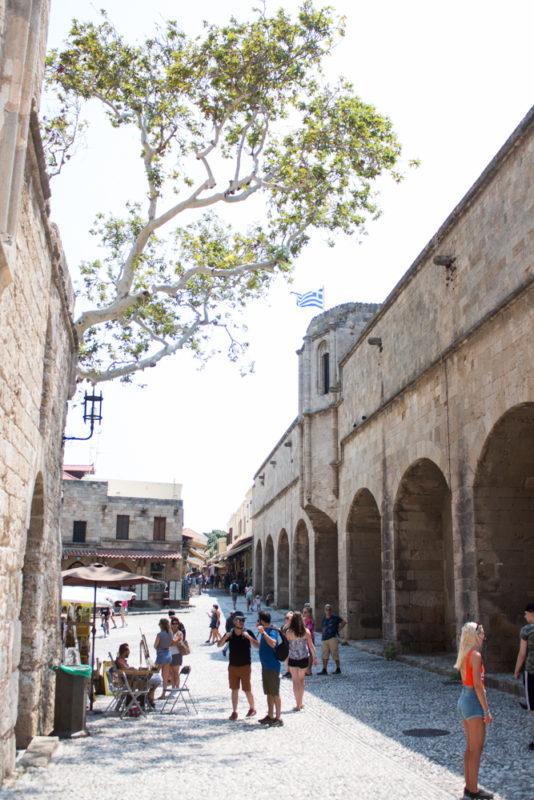 rhodos medeltida stad