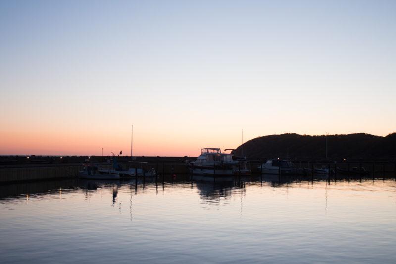 Mölle och Kullaberg efter solnedgång
