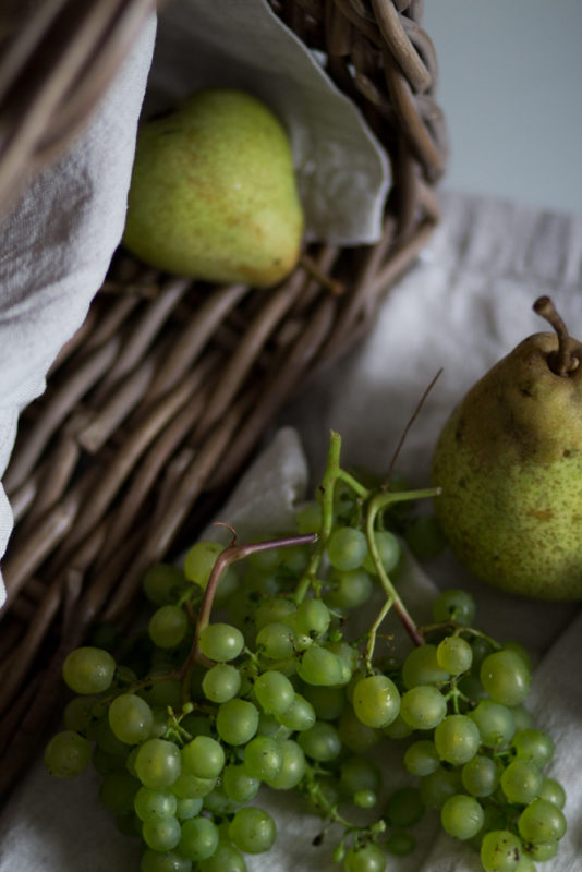 päron och vindruvor